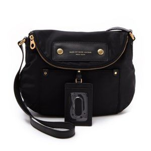 MarcJacobs Black Preppy Nylon Natasha Shoulder Bag